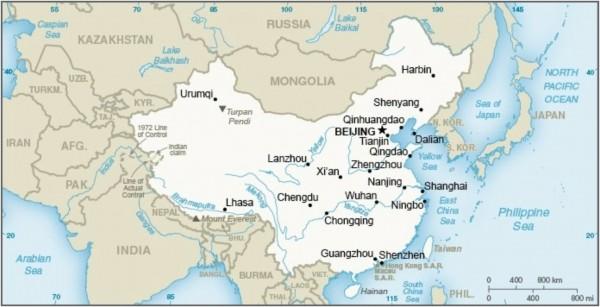 美國國務院在中國國情簡介中以同樣顏色顯示台灣地圖與中國地圖,美國國務院東亞局發言人今天重申,美國長久以來的政策沒有改變,仍持守基於三公報和台灣關係法的一個中國政策。(圖擷自美國國務院)
