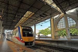 馬來西亞KTM的火車。(擷取自大馬觀光局網站)