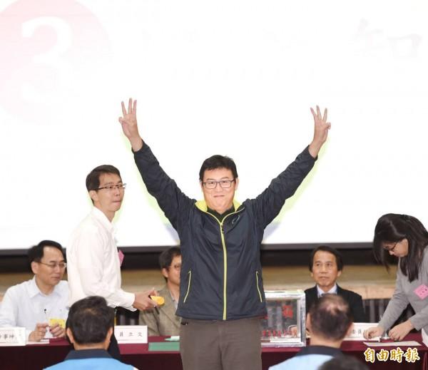 民進黨台北市長候選人姚文智。(記者方賓照攝)