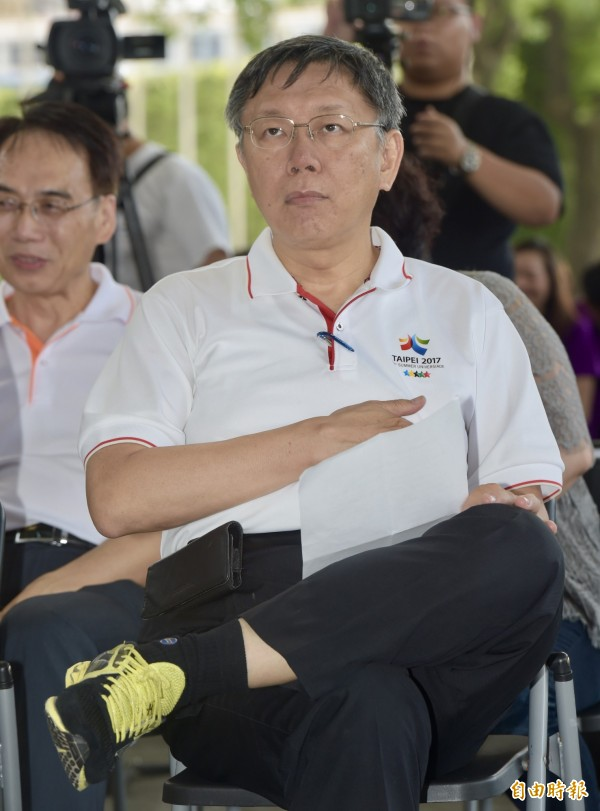 台北市長柯文哲。(資料照,記者黃耀徵攝)