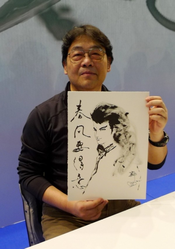 台灣知名漫畫家鄭問。(安古蘭台灣館提供)
