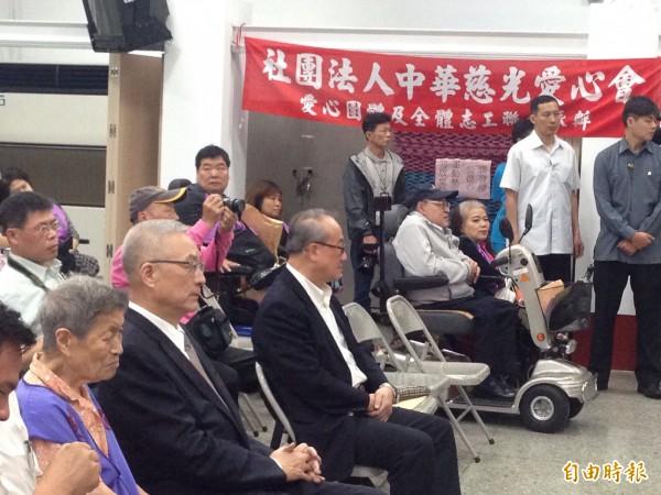 副總統吳敦義今出席中華慈光愛心會(記者何世昌攝)