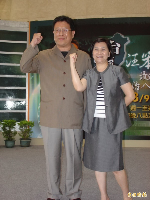 汪笨湖被江霞禮聘進華視主持台灣起動。(資料照,記者林淑娟攝)