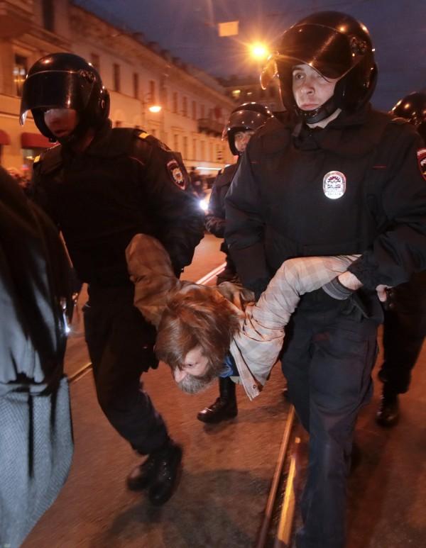 約有270人被警方逮捕。(美聯社)