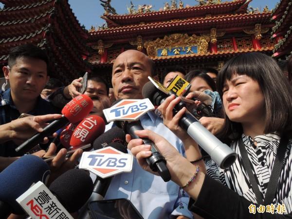 目前已知高雄大型投資案,都與即將接任的準市長韓國瑜無關。(記者王榮祥攝)