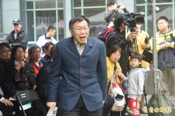 台北市長柯文哲及台大校長楊泮池等人,共同出席台大杜鵑花節開幕活動。(記者叢昌瑾攝)