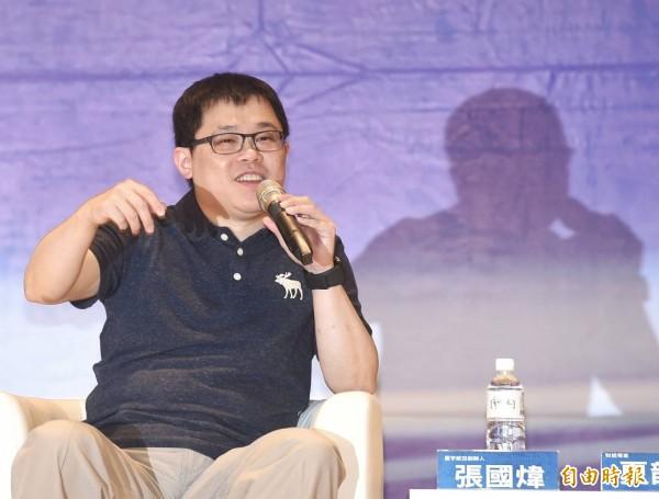 張國煒表示「騎驢找馬」是年輕人的普遍問題,他認為新鮮人不要要求薪水太高,到社會都是新手,要謙卑。(記者方賓照攝)