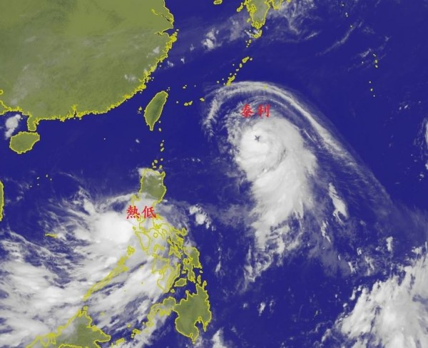 昨天泰利颱風便曾因特殊形狀的颱風眼引發熱論。(擷取自鄭明典臉書)