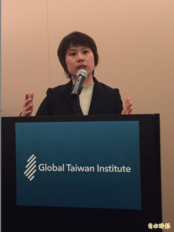 台灣學者林怡俐認為台灣的轉型正義還缺歷史真相。(記者曹郁芬攝)