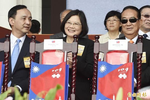 三立民調:蔡英文41.6%朱立倫20.7%宋楚瑜10.1%