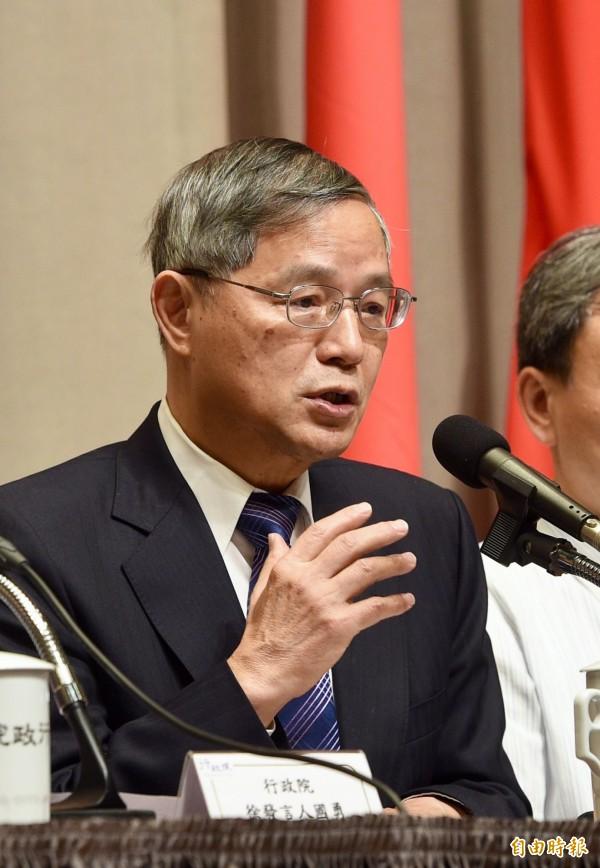 國發會主委陳添枝說,近幾年國內投資動能都不夠,需要強化。(記者羅沛德攝)
