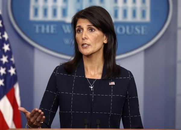 美國聯合國大使妮基.黑利(Nikki Haley)要求透明化北韓專利申請紀錄並徹查。(資料圖 美聯社)