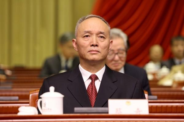 北京市委書記蔡奇在一次會議中,要官員面對基層時得「刺刀見紅、硬碰硬」。(路透)