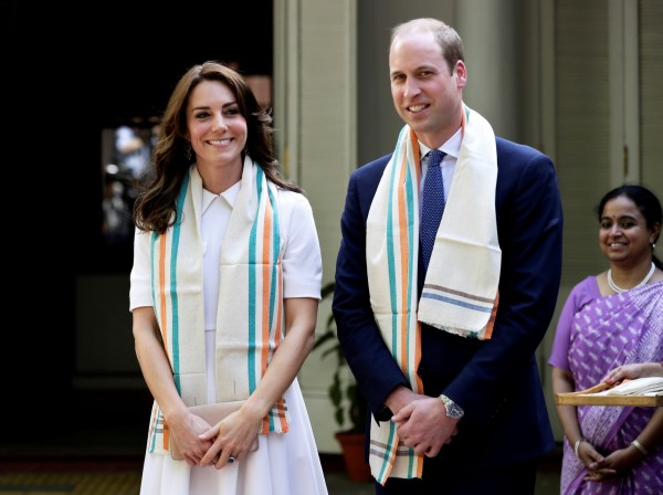 威廉與凱特還走訪印度聖雄甘地的故居。(路透)