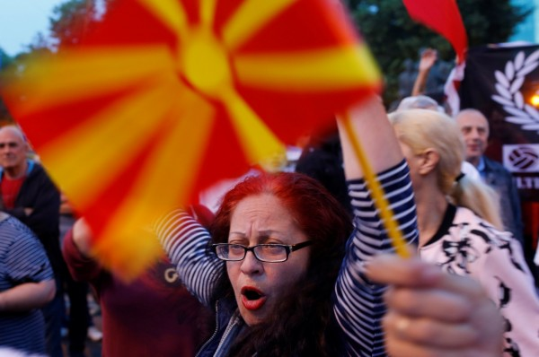 不少馬其頓人反對改名。(路透)