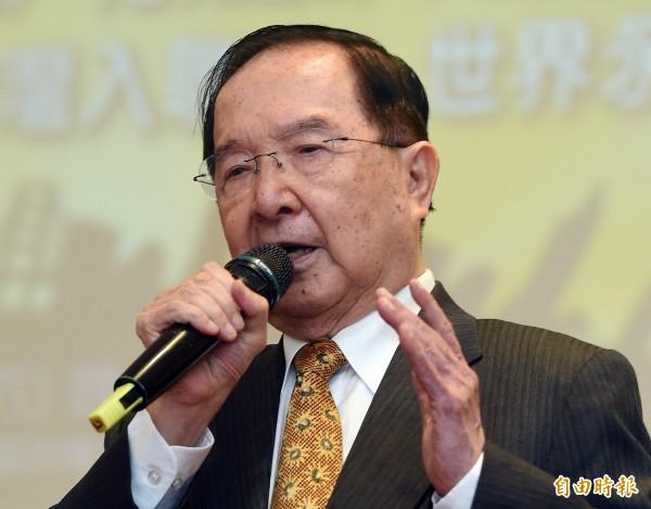 前總統府資政吳澧培說,原本希望賴清德參選台北市長,「把柯文哲打趴」。(資料照,記者廖振輝攝)