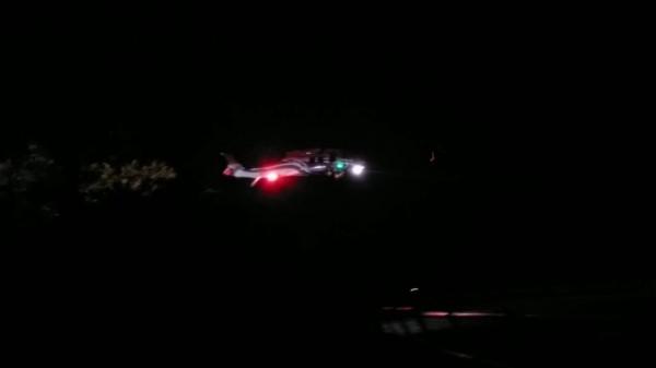 黑鷹墜深海底,14日進行打撈作業。圖為七○六黑鷹直升機失聯前的最後位置蹤影。(台東縣議員黃天德提供)