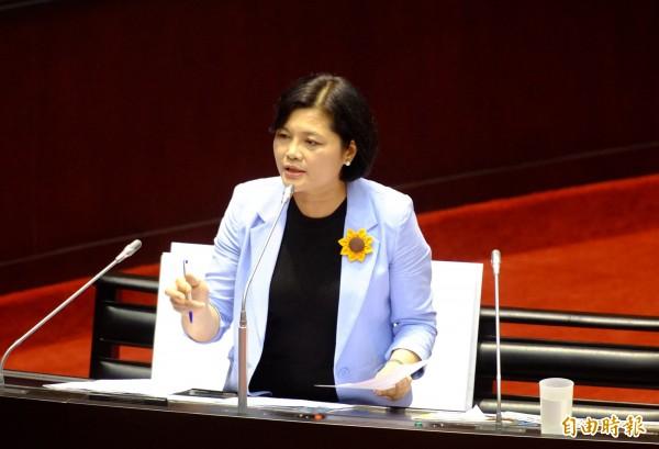 國民黨立委張麗善對婚姻平權修法持反對立場。(資料照,記者王藝菘攝)