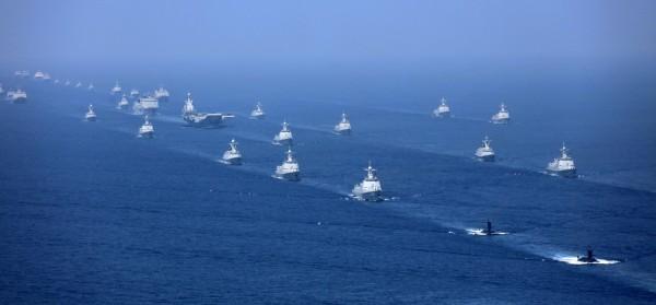 在蔡總統即將出訪之際,中國解放軍宣布在黃海有「重大軍事活動」。示意圖,與本新聞無關。(美聯社)