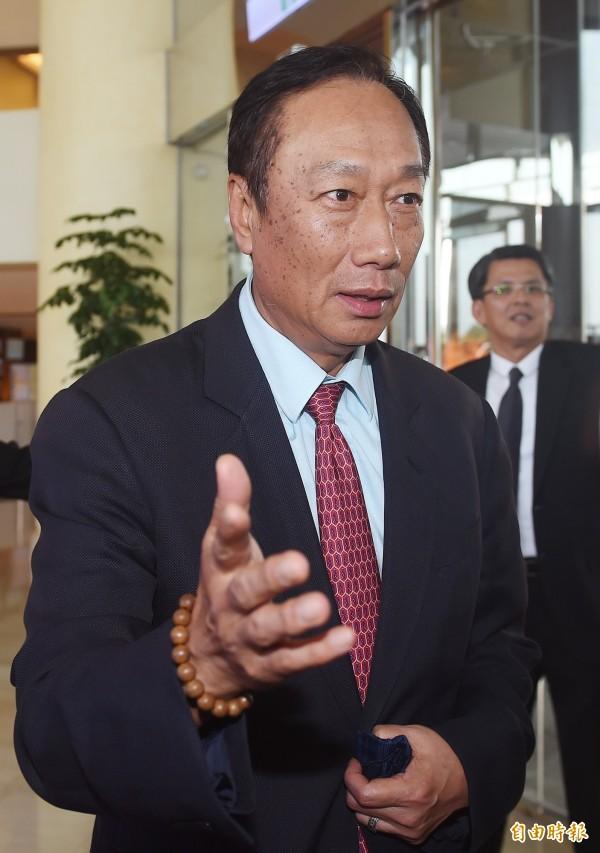 台北地院將在本週三傳喚郭台銘出庭,將3億男真相一次說清楚。(資料照,記者廖振輝攝)