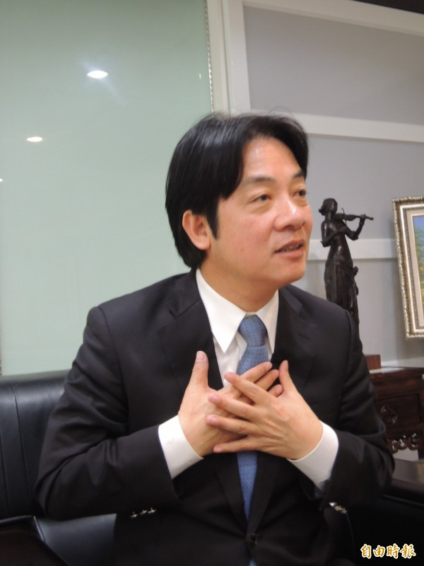 台南市長賴清德傳出可能會被民進黨徵召,參選新北市長,民進黨今日澄清一切都由選對會處理。(資料照,洪瑞琴攝)