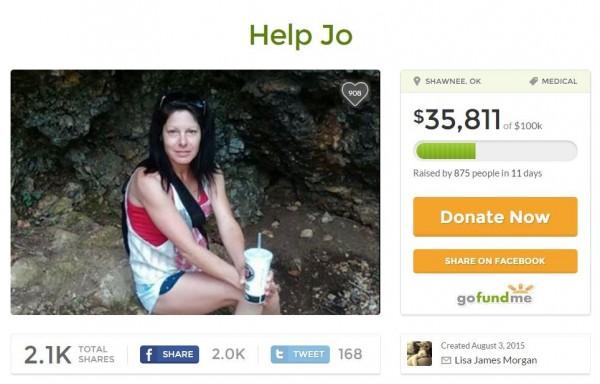家人為她在網路平台發起募款。(圖擷取自GoFundMe)