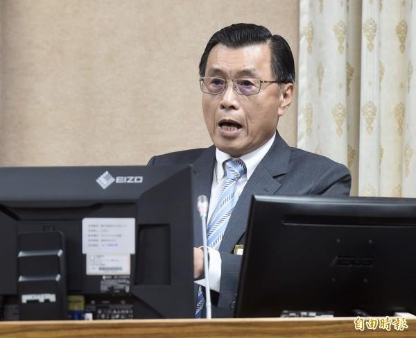 中國國台辦主任劉結一今天表示,舉行軍演是「捍衛祖國主權和領土完整的行動」,國安局長彭勝竹回應說,基本上劉結一秉持和過去一樣「反台獨」的立場。(記者簡榮豐攝)