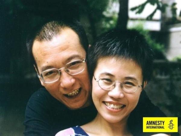 劉曉波與妻子劉霞。(圖:國際特赦組織提供)
