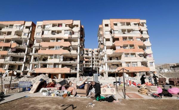 伊朗地震災情慘重,根據官方最新消息,目前該國已有530人罹難、7460人受傷。伊拉克則有10人死亡,數百人受傷。(法新社)