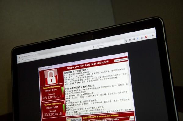 電腦網路勒索病毒「Wanna Cry」造成全球多國網路災情,政府機關與企業更如臨大敵。(美聯社)