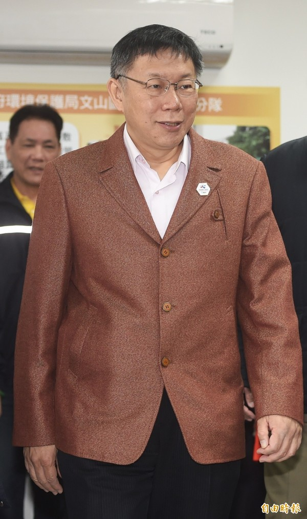 台北市長柯文哲認為有做事才會掉民調,他有信心可以連任。(資料照,記者廖振輝攝)