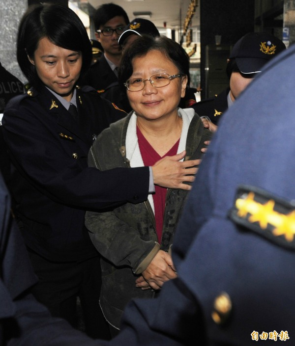 交通部前部長郭瑤琪(中)涉犯貪污罪被法院判刑8年定讞。(資料照,記者羅沛德攝)