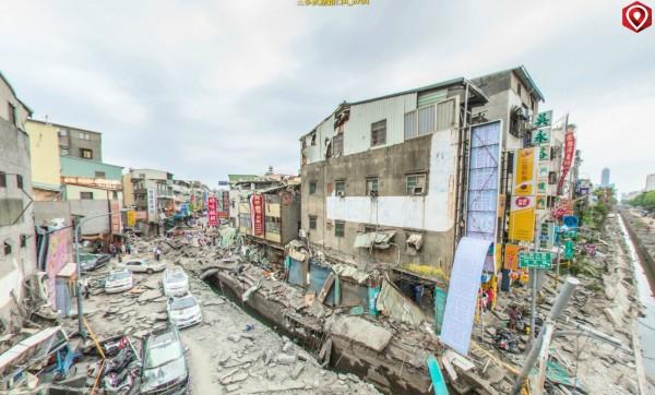 高雄市發生嚴重氣爆,有攝影師以720度環景方式,拍下災區真實樣貌。(圖擷取自super720.com)
