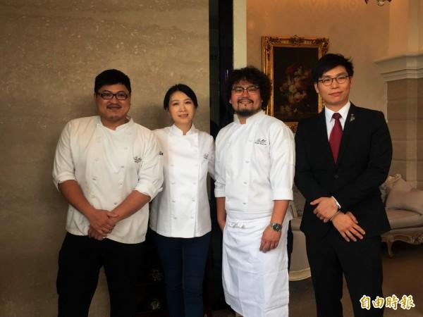 台灣數一數二法國頂尖餐廳創辦人陳嵐舒(左二),今日在官網發布聲明,確定樂沐於12月底歇業。(資料照)