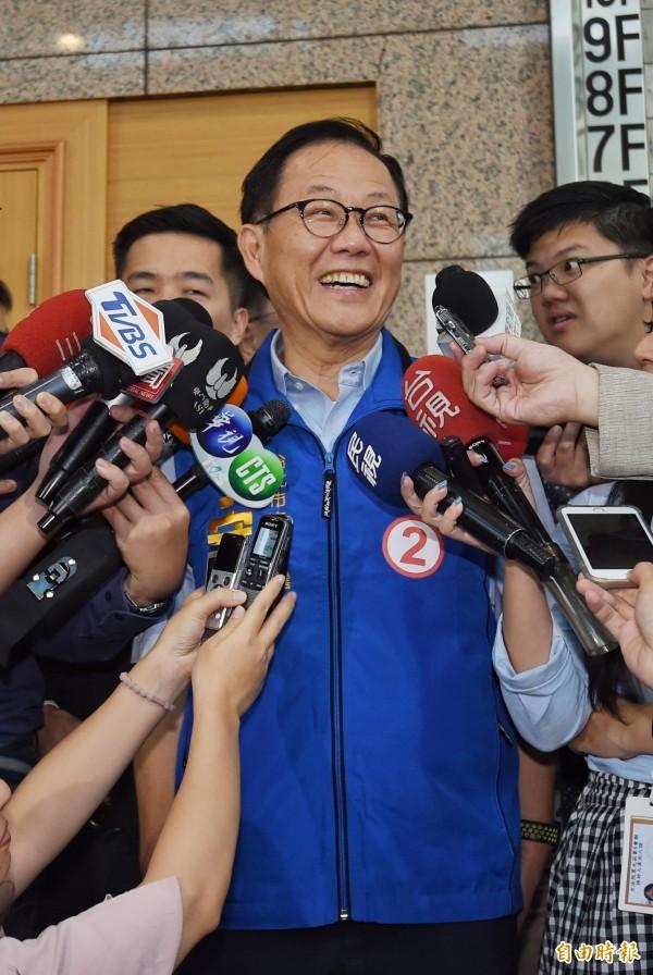 国民党发言人洪孟楷上午与丁办发言人詹为元召开记者会宣布,11日北市凯道举办的活动,当天将改办「台北(二)胜利台湾奋起,繁荣为台北,守中挺百业」万人造势活动。(资料照)
