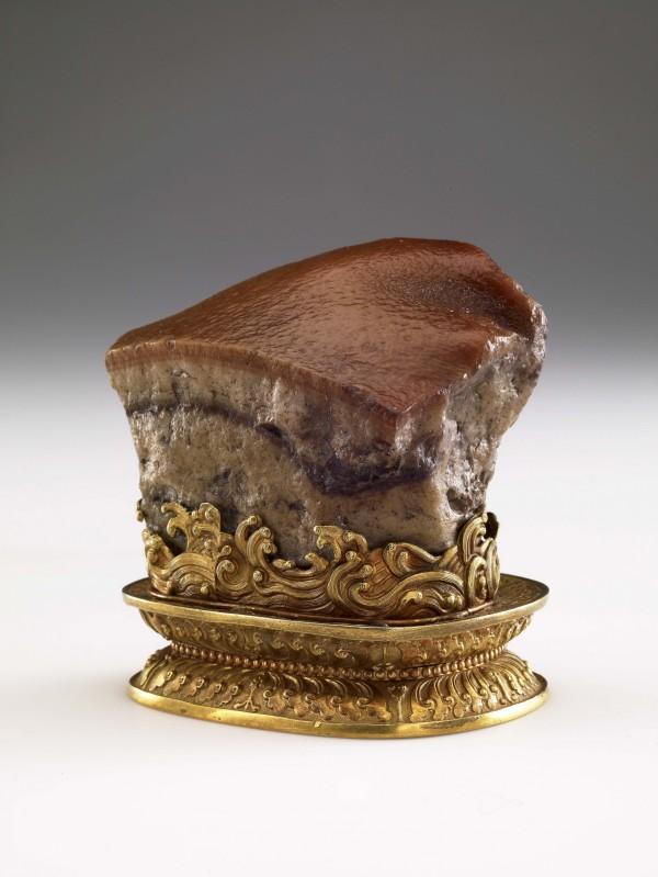 台北故宮收藏的「肉形石」。(故宮提供)