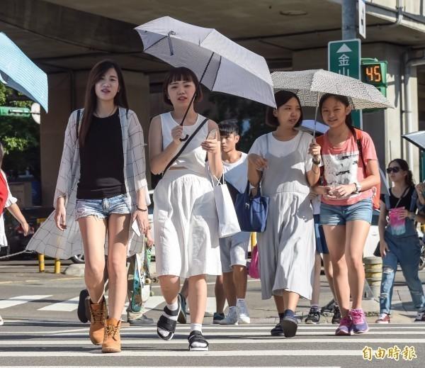 中央氣象局指出,今天(17日)天氣晴朗炎熱,午後有熱對流發展,在山區容易有雷陣雨發生。(資料照)