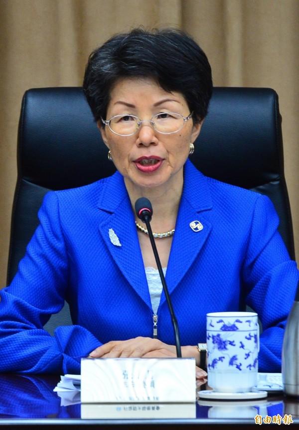 張小月強調,言語恐嚇和武力威脅只會造成台灣人民的反感。(資料照,記者王藝菘攝)