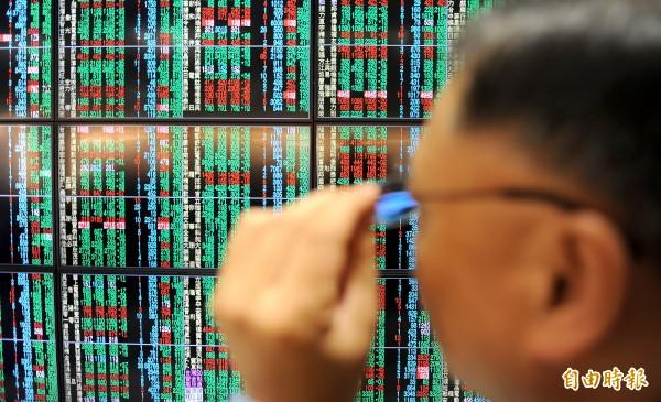 台北股市今天開盤上漲6.68點,漲幅0.06%,報10539.56點,成交金額為63.72億元。(資料照,記者劉信德攝)