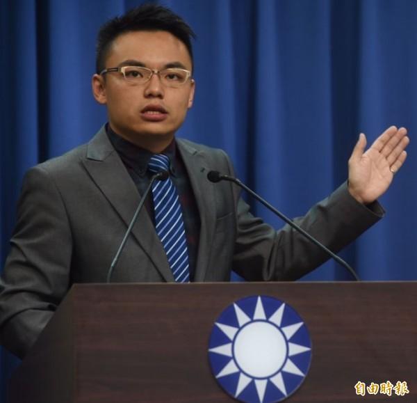 國民黨文傳會副主委洪孟楷今日召開記者會進一步質疑,所謂「前瞻計畫」根本就是為了二0一八年地方選舉綁樁的「『錢』瞻計畫」。(資料照,記者簡榮豐攝)
