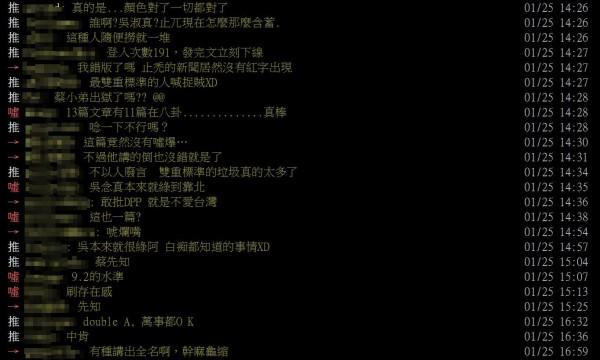 蔡正元的言論被轉至「批踢踢實業坊」被廣大鄉民砲轟,許多人不認同蔡正元的想法。(圖擷取自蔡正元PTT)