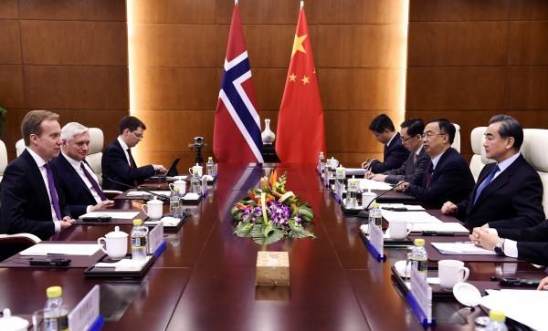 中國與挪威上月19日宣布關係正常化,並要求挪威在聲明中表態堅持「一個中國」原則。(每聯社)