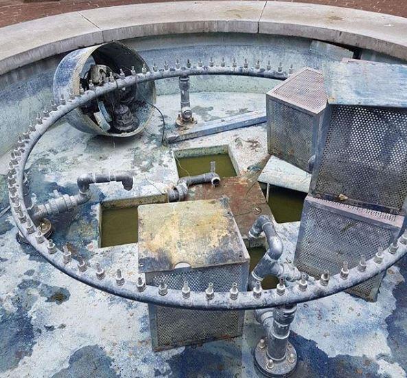 噴泉裡原先有價值1000英鎊的硬幣,但經過一天後只剩下1.66英鎊。(圖擷取自IG@annabrownsted)