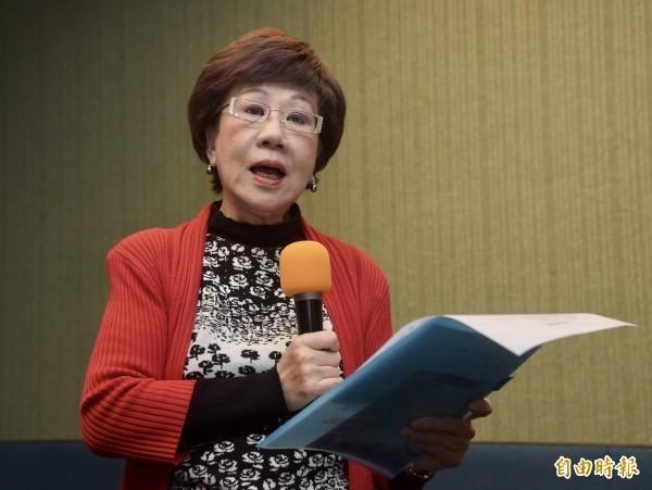 前副總統呂秀蓮日前因「世大運成績好是因為中國放水」的言論惹來不少民怨,呂秀蓮則強調,自己只是說真話,且沒有否定運動員的貢獻,不知為何要道歉。(資料照)