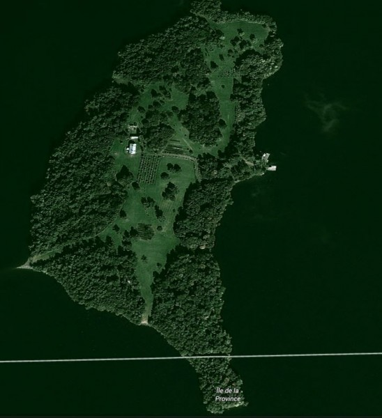 網友發現與台灣相當相似的島嶼。(擷自Google map)