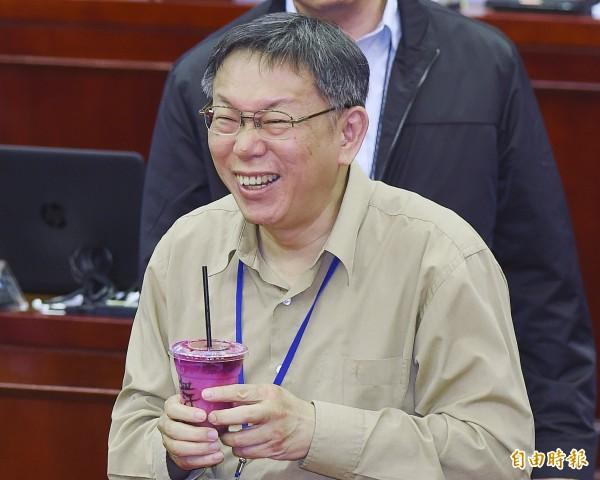 台北市長柯文哲。(資料照,記者廖振輝攝)
