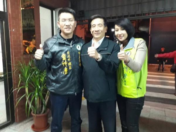 童仲彥(左)與邱惠美(右)傳出緋聞。(圖擷取自「台灣阿童─童仲彥」臉書粉絲團)