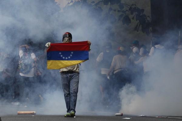 委內瑞拉爆發大規模反政府抗議行動。(美聯社)