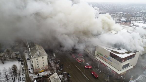 俄國購物中心大火 至少37死、69人失蹤