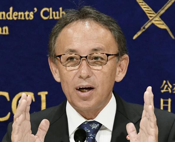 冲绳新知事玉城邓尼今(9)日说,他下周到美国,会直接向美方表达冲绳人对美军基地的看法。(美联社)
